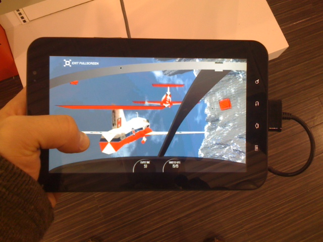 snowbirds sim on android tablet