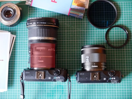 EF-S 10-22mm with adapter versus EF-M 11-22mm