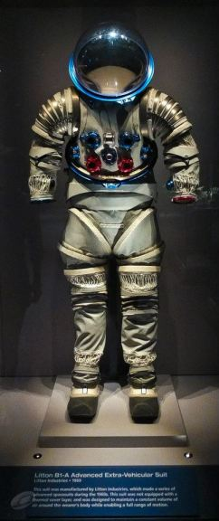 One of many prototype space suits you and I can see, but not try on, at Kennedy Space Center